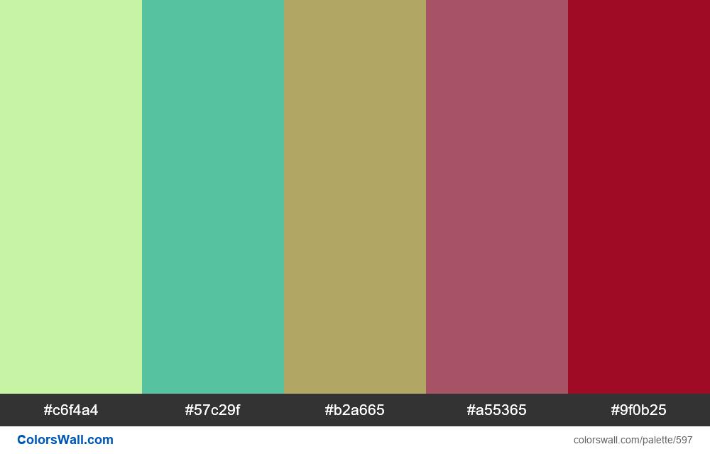 #colorswall random #163 colors palette - #597