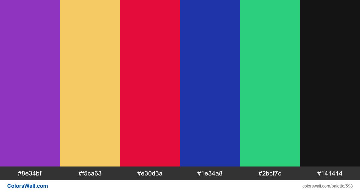 #colorswall random #164 colors palette - #598