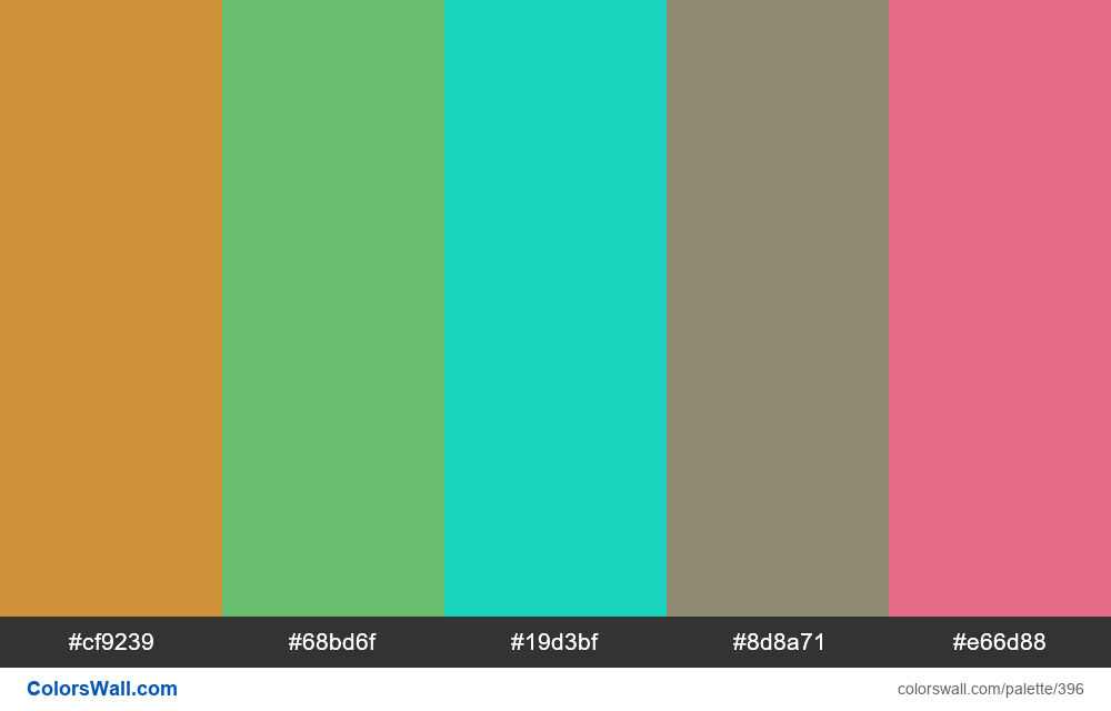#colorswall random #17 colors palette - #396