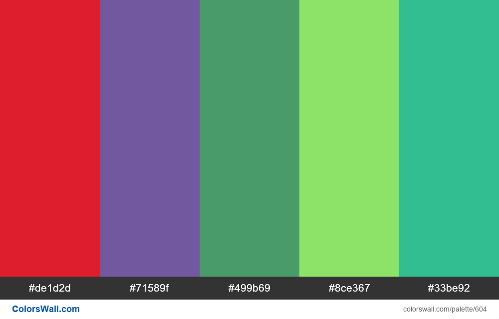 #colorswall random #170 colors palette - #604