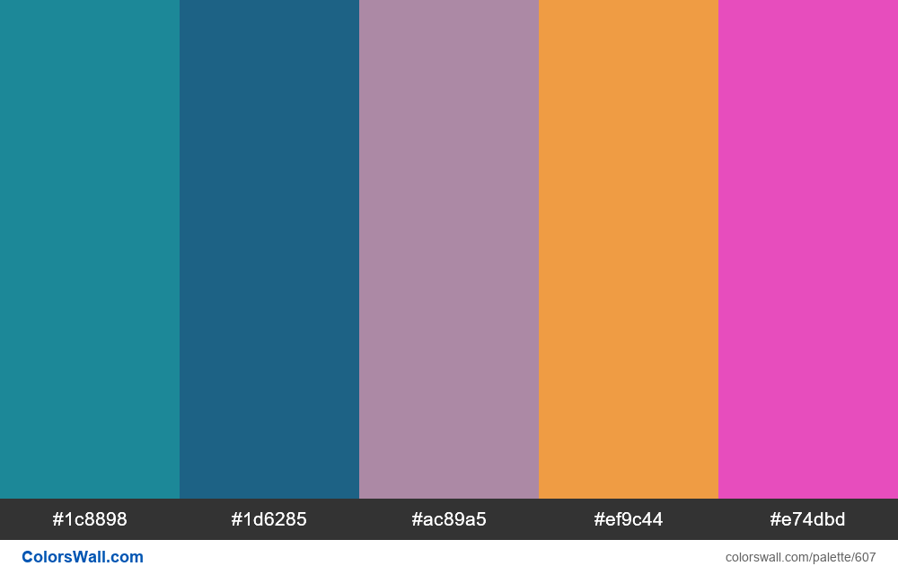 #colorswall random #173 colors palette - #607