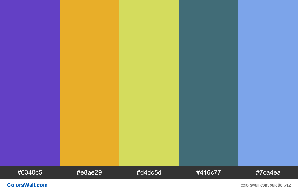 #colorswall random #178 colors palette - #612