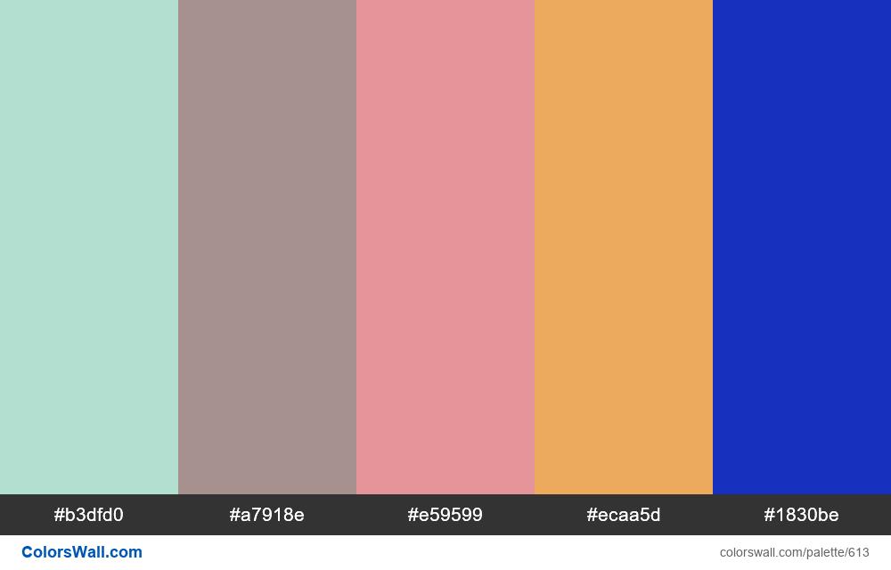 #colorswall random #179 colors palette - #613