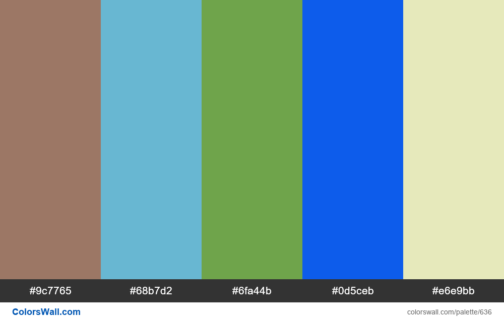 #colorswall random #183 colors palette - #636