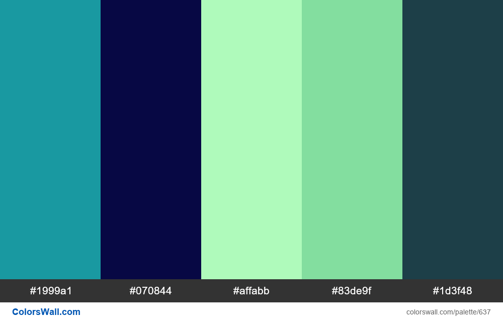 #colorswall random #184 colors palette - #637