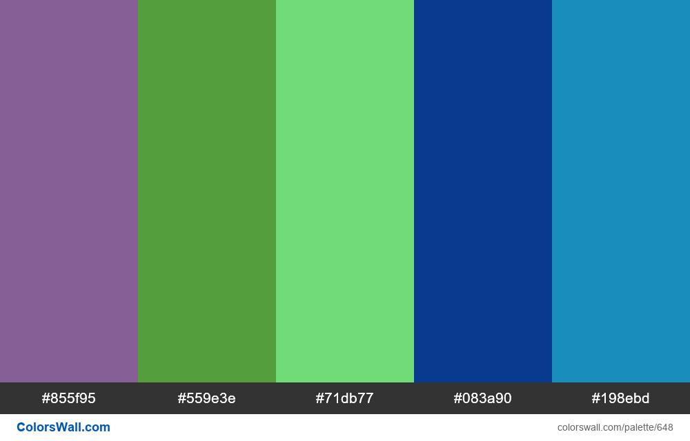 #colorswall random #186 colors palette - #648