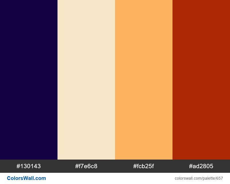 #colorswall random #195 colors palette - #657