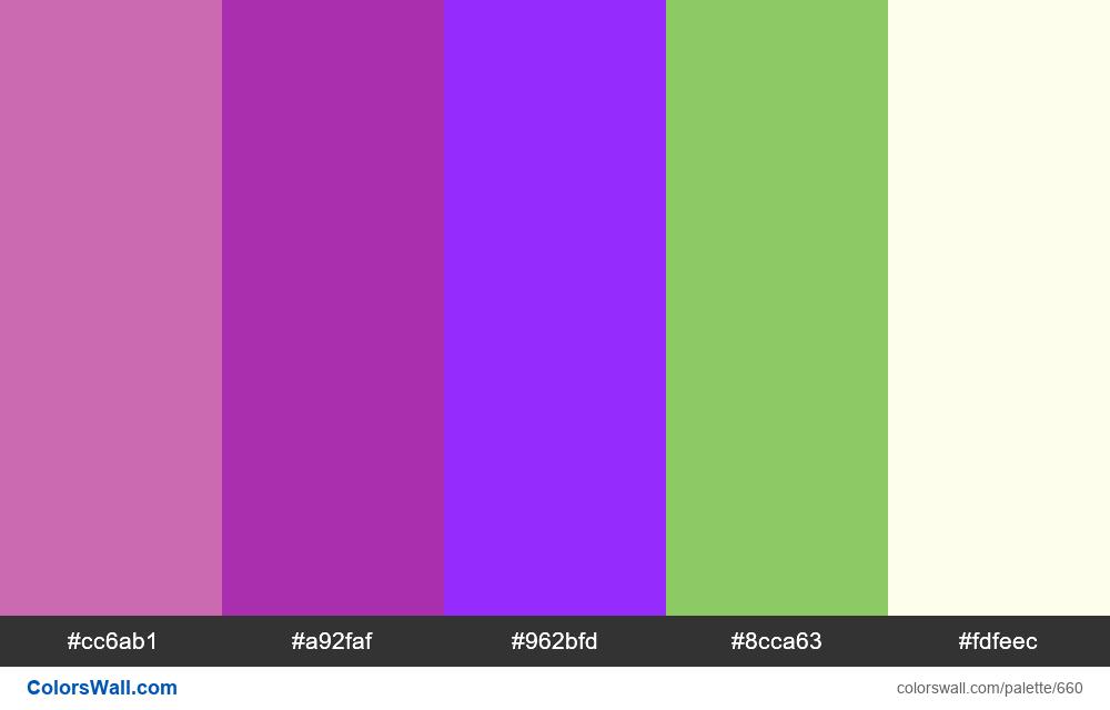 #colorswall random #198 colors palette - #660