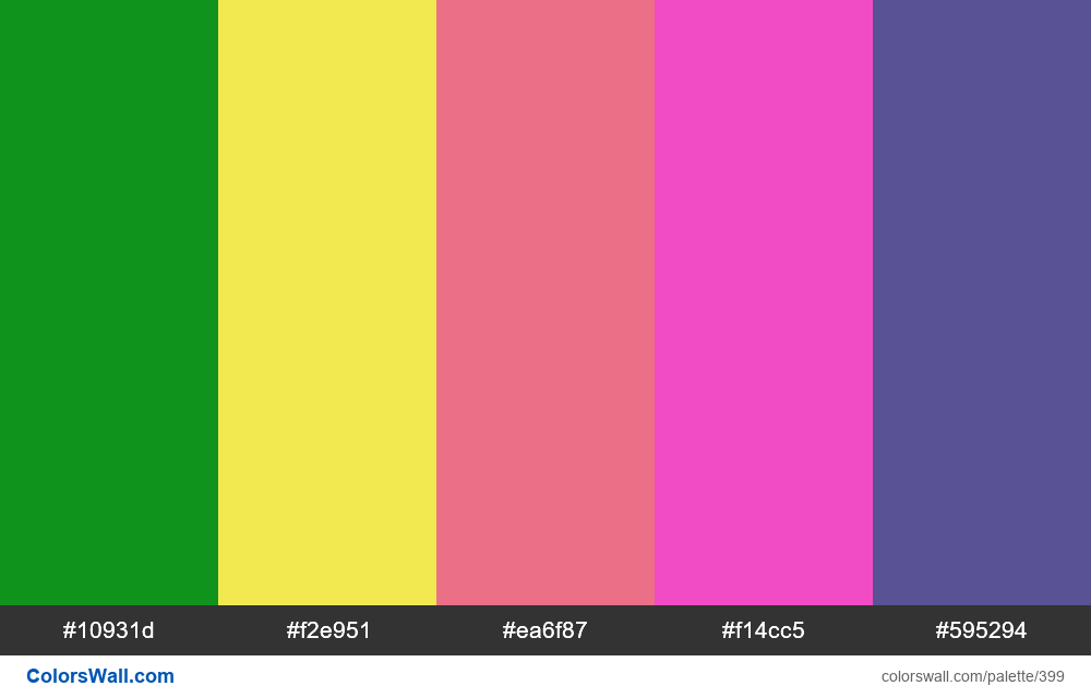 #colorswall random #20 colors palette - #399