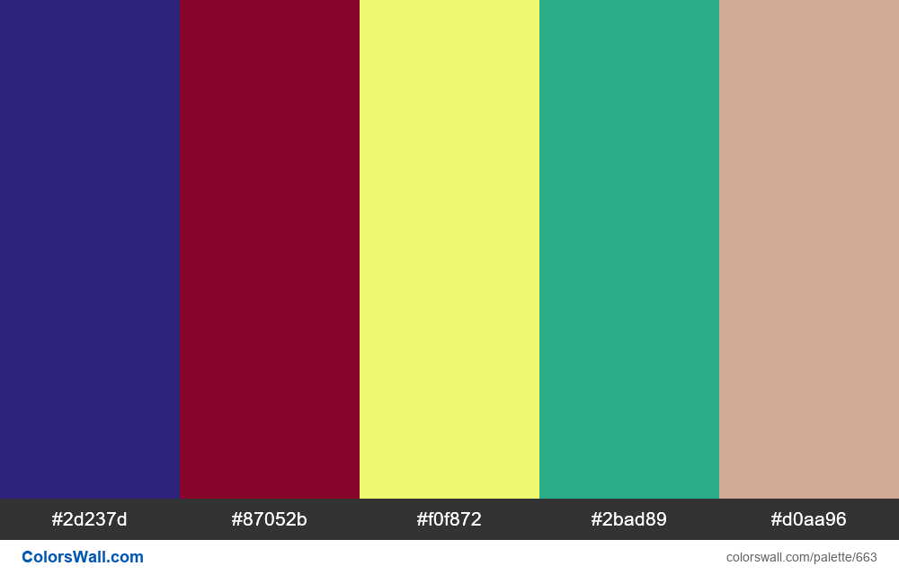 #colorswall random #201 colors palette - #663