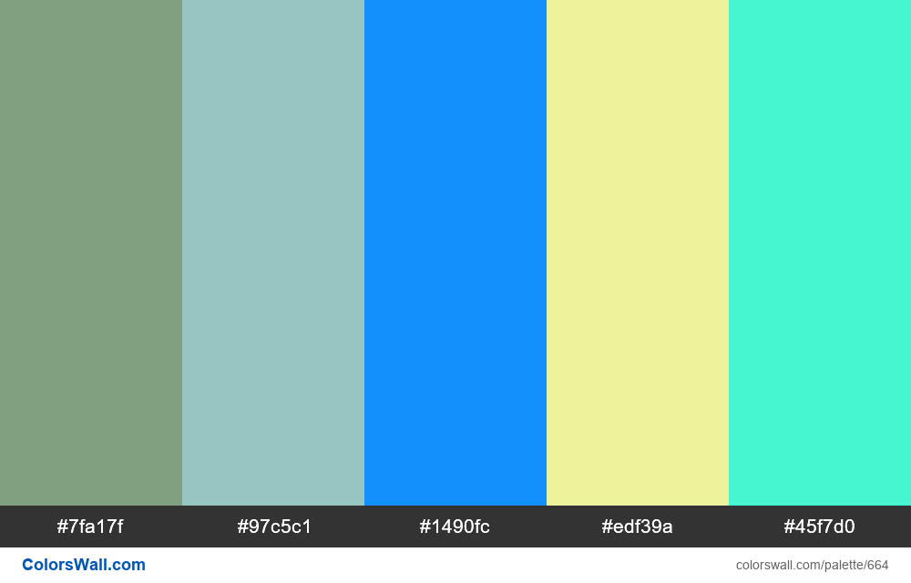 #colorswall random #202 colors palette - #664