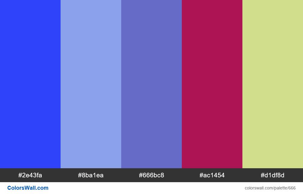 #colorswall random #204 colors palette - #666