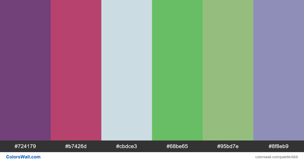 #colorswall random #206 colors palette - #668