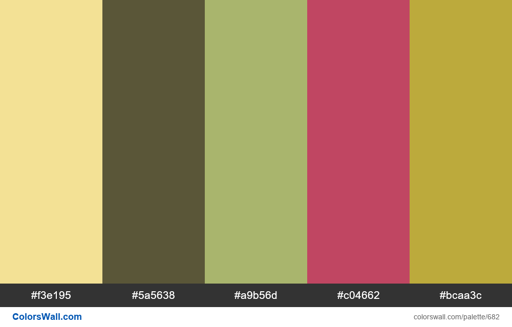 #colorswall random #216 colors palette - #682