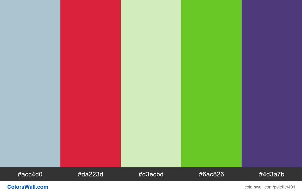 #colorswall random #22 colors palette - #401