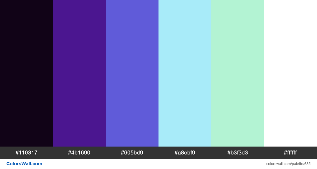 #colorswall random #220 colors palette - #685