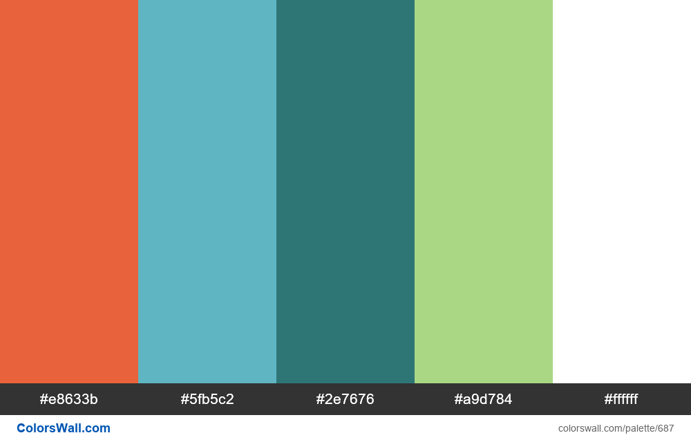 #colorswall random #222 colors palette - #687