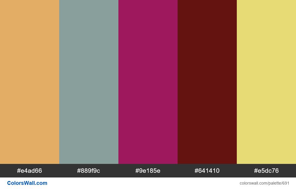 #colorswall random #225 colors palette - #691