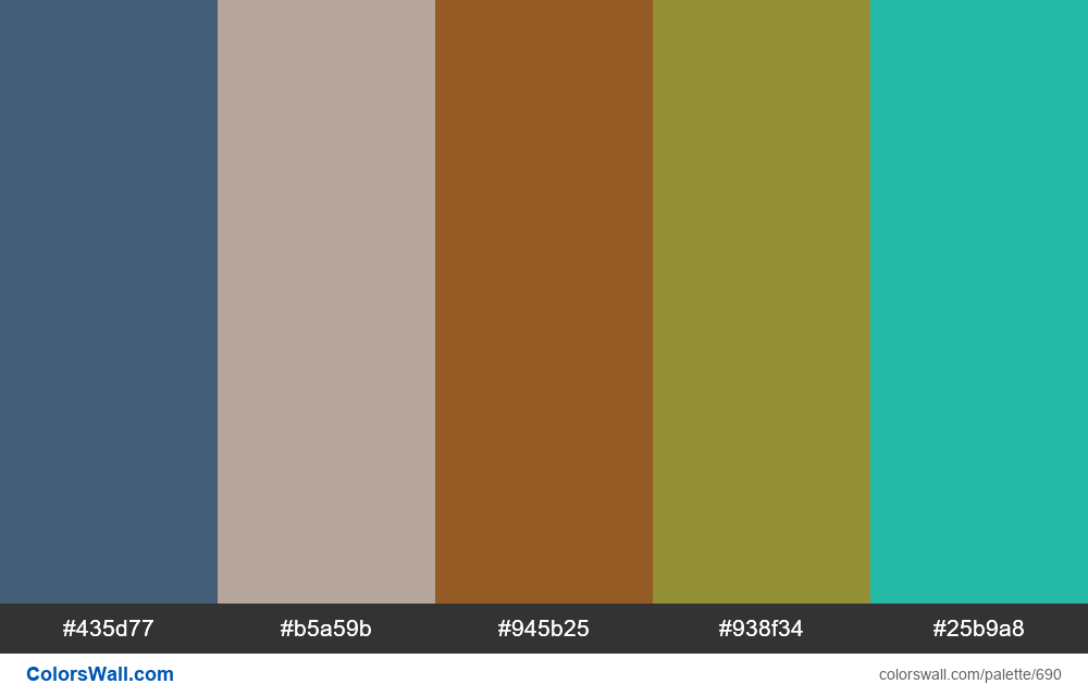 #colorswall random #234 colors palette - #690