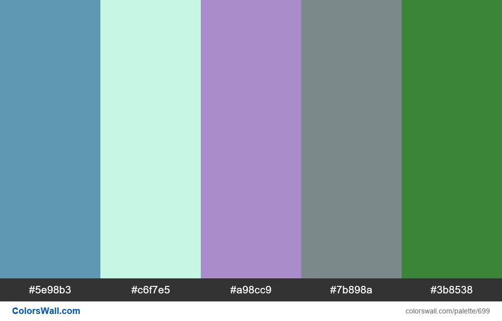 #colorswall random #234 colors palette - #699