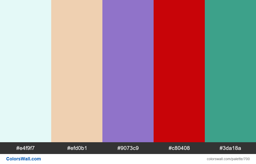 #colorswall random #235 colors palette - #700
