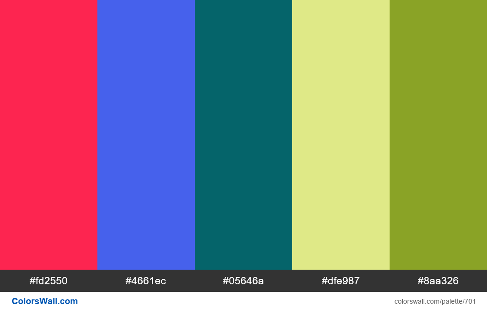 #colorswall random #236 colors palette - #701