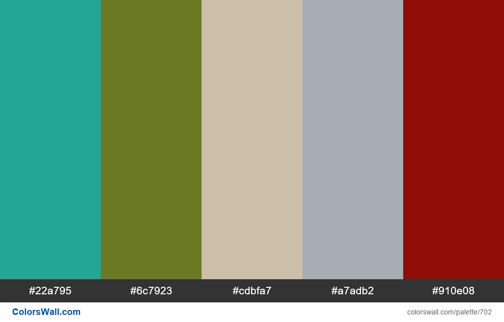 #colorswall random #237 colors palette - #702