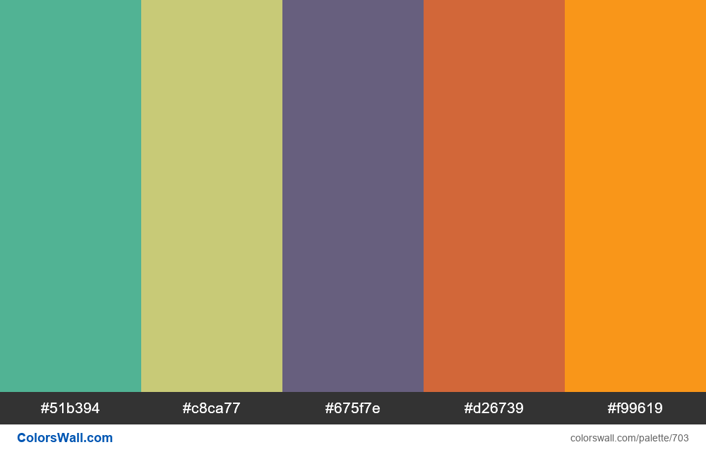 #colorswall random #238 colors palette - #703