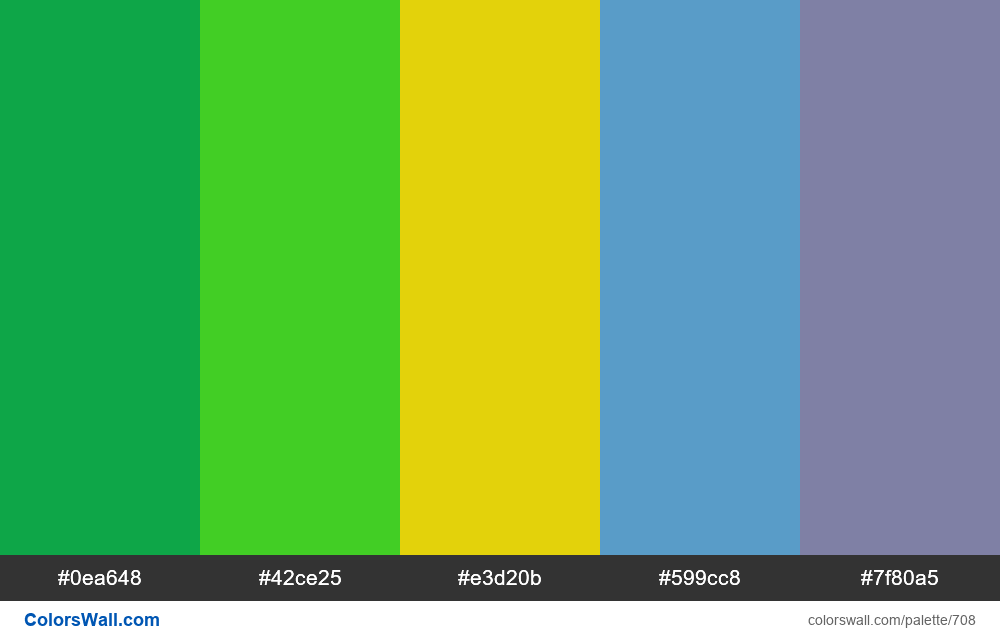 #colorswall random #242 colors palette - #708