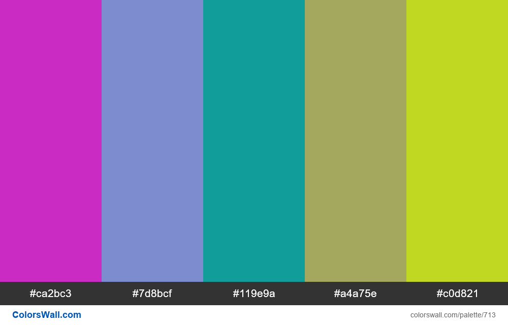 #colorswall random #247 colors palette - #713