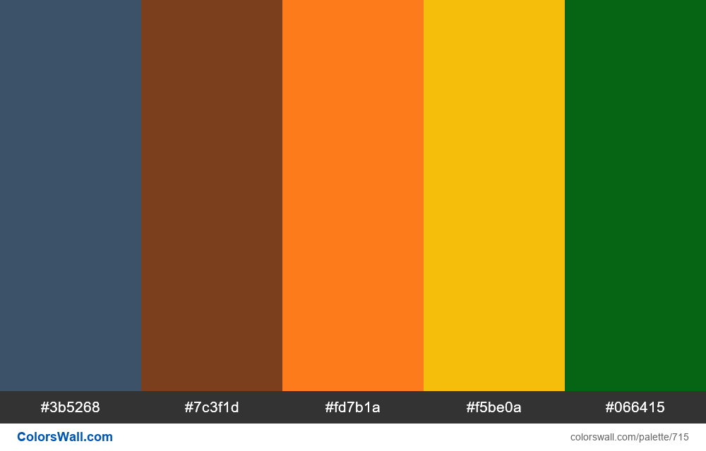 #colorswall random #248 colors palette - #715