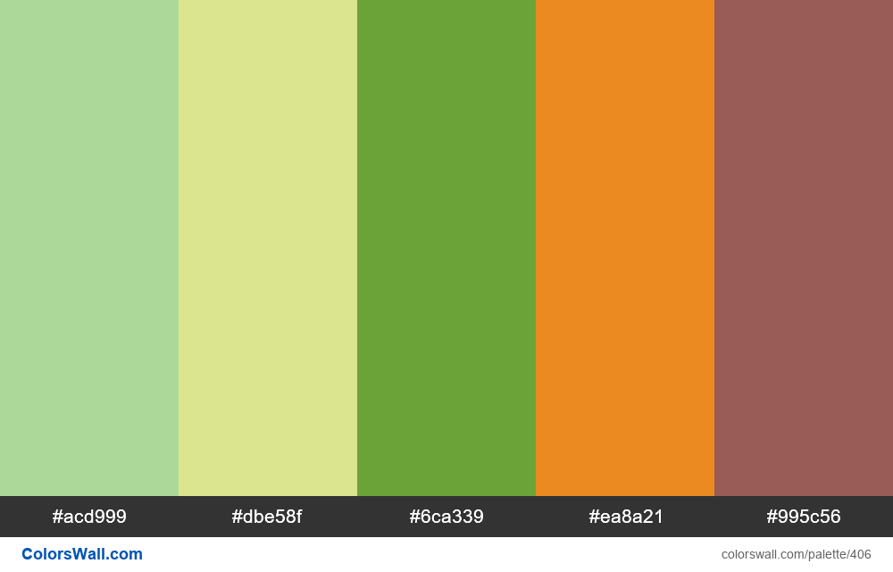 #colorswall random #25 colors palette - #406