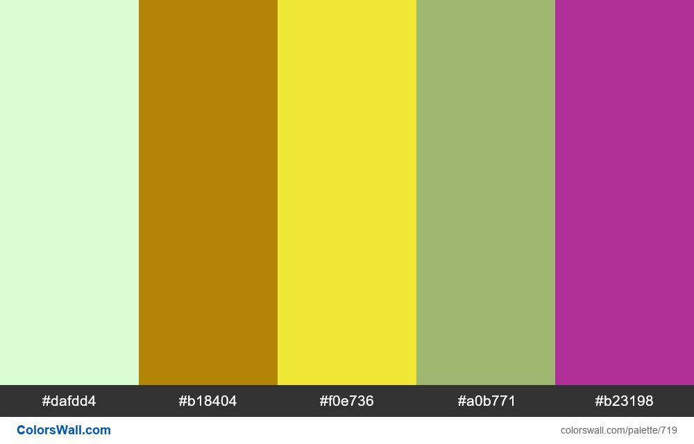 #colorswall random #252 colors palette - #719