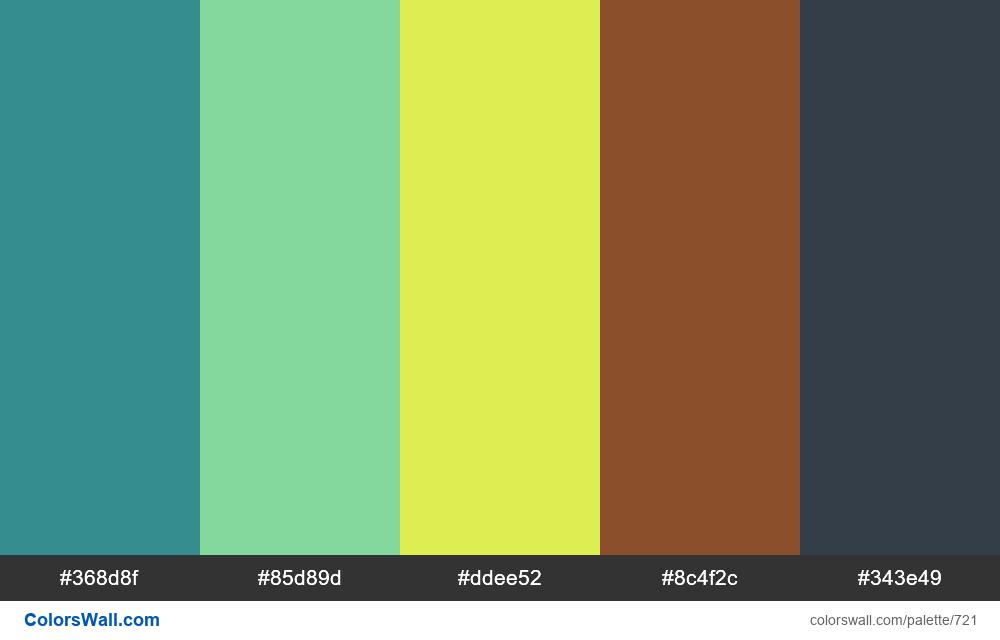 #colorswall random #254 colors palette - #721