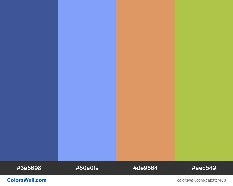 #colorswall random #26 colors palette - #408