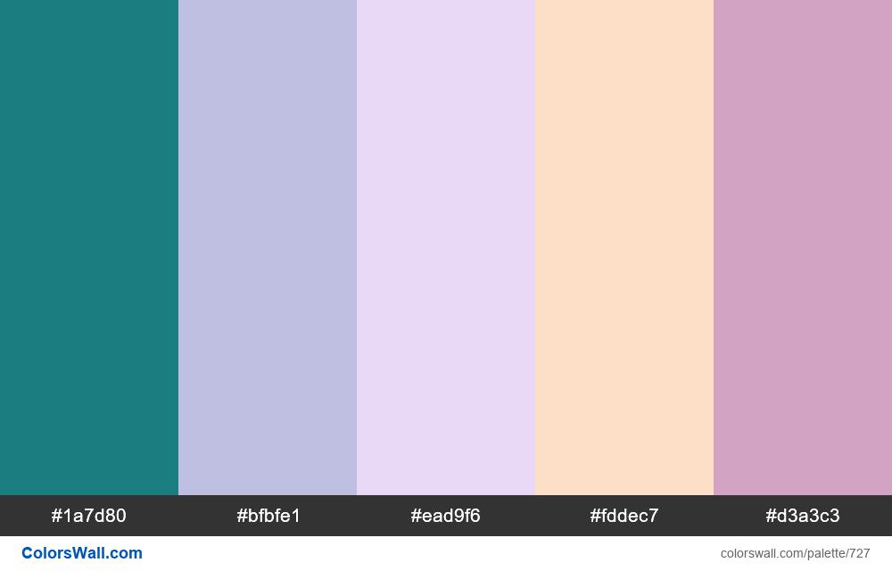 #colorswall random #260 colors palette - #727