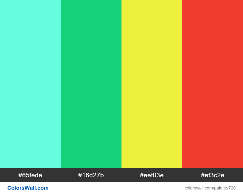 #colorswall random #261 colors palette - #728