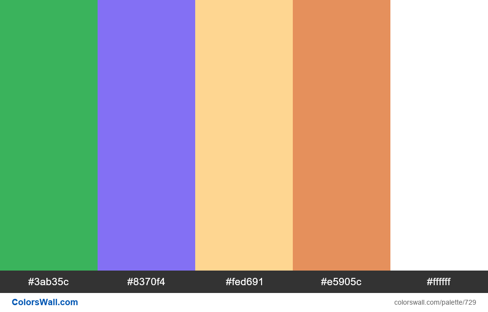 #colorswall random #262 colors palette - #729