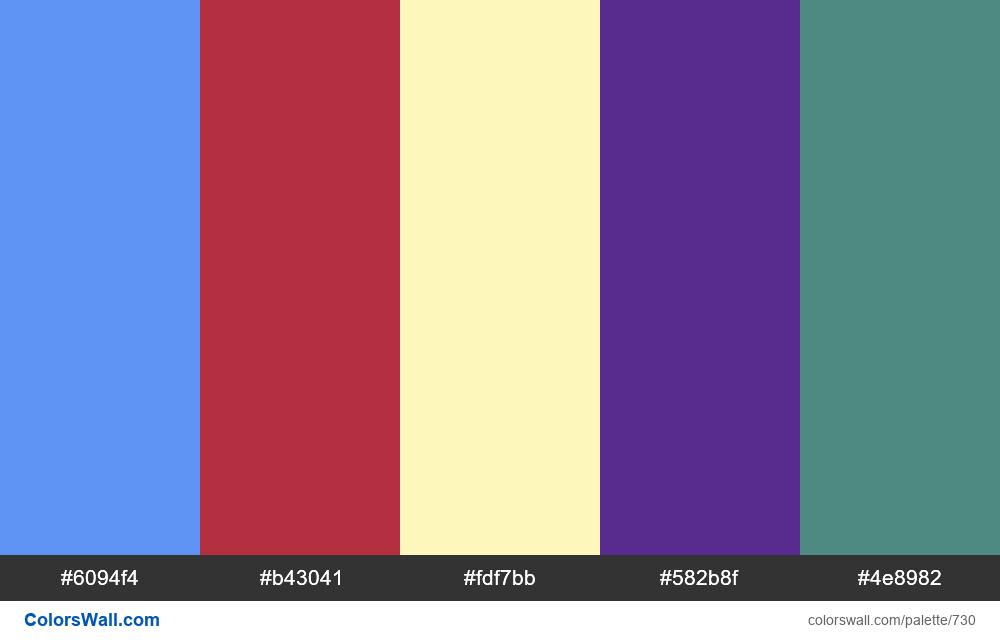 #colorswall random #263 colors palette - #730