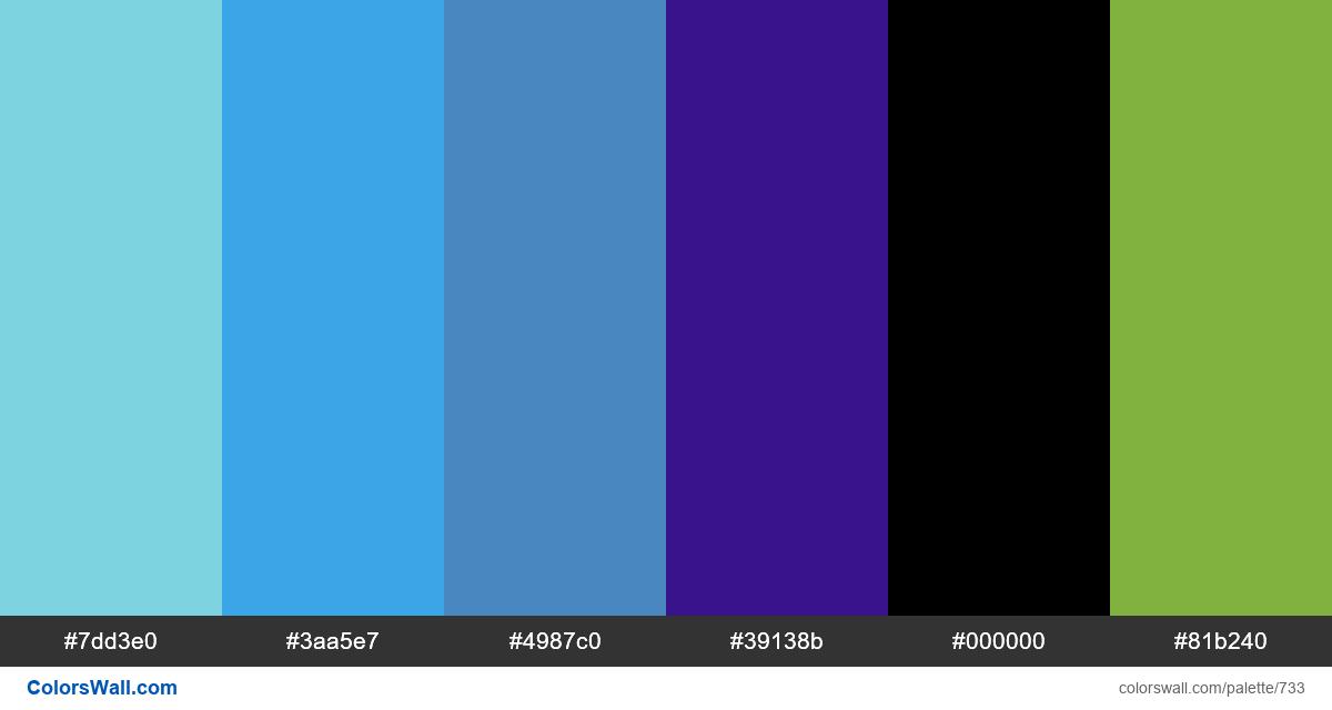 #colorswall random #266 colors palette - #733