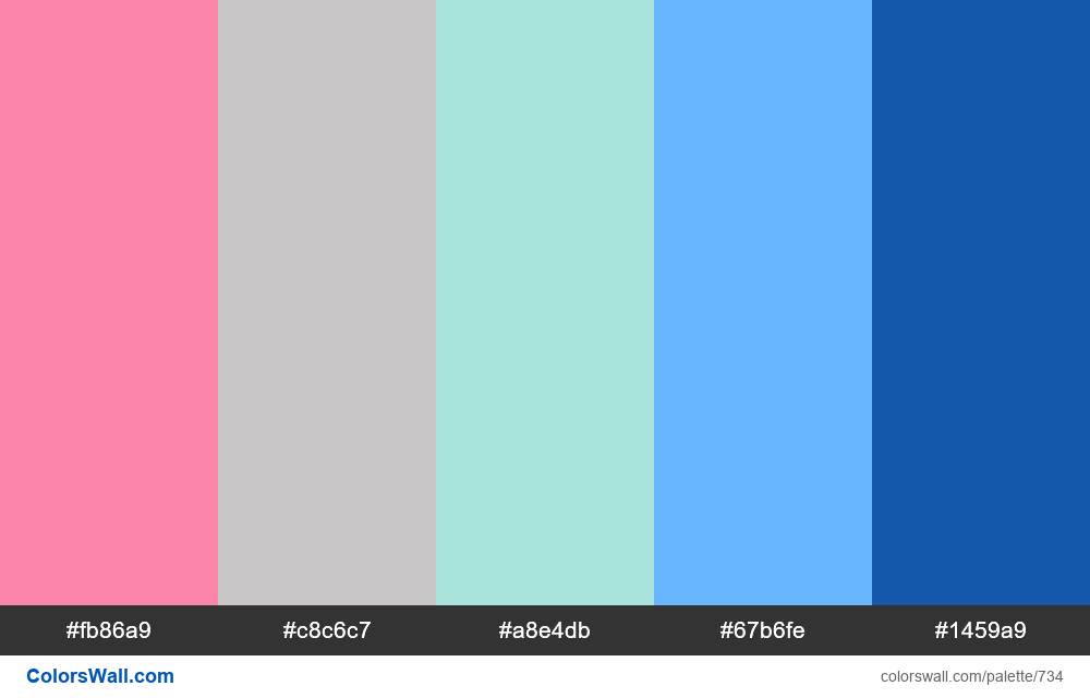 #colorswall random #267 colors palette - #734
