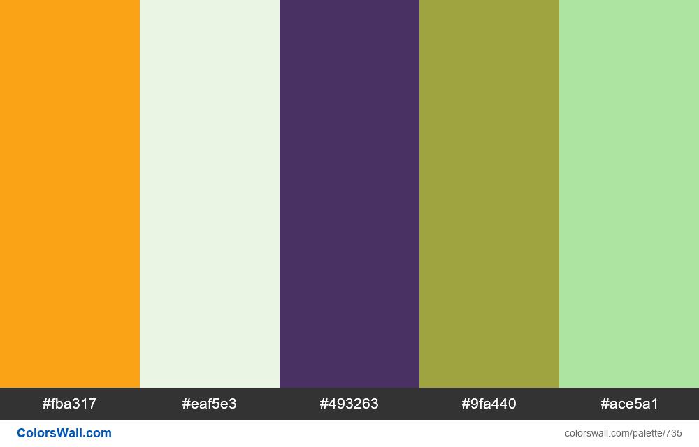 #colorswall random #268 colors palette - #735