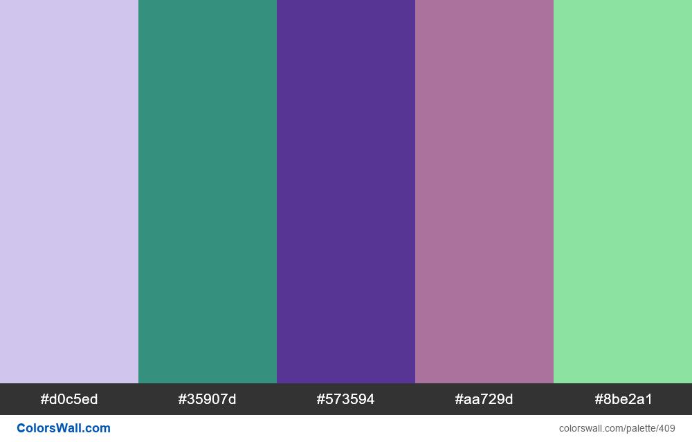 #colorswall random #27 colors palette - #409