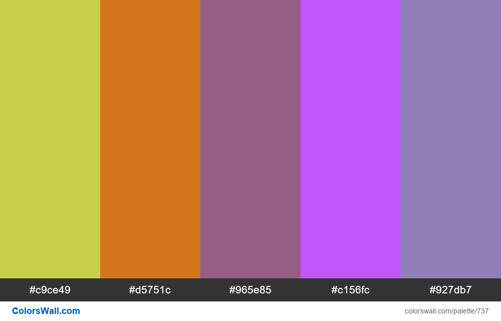 #colorswall random #270 colors palette - #737
