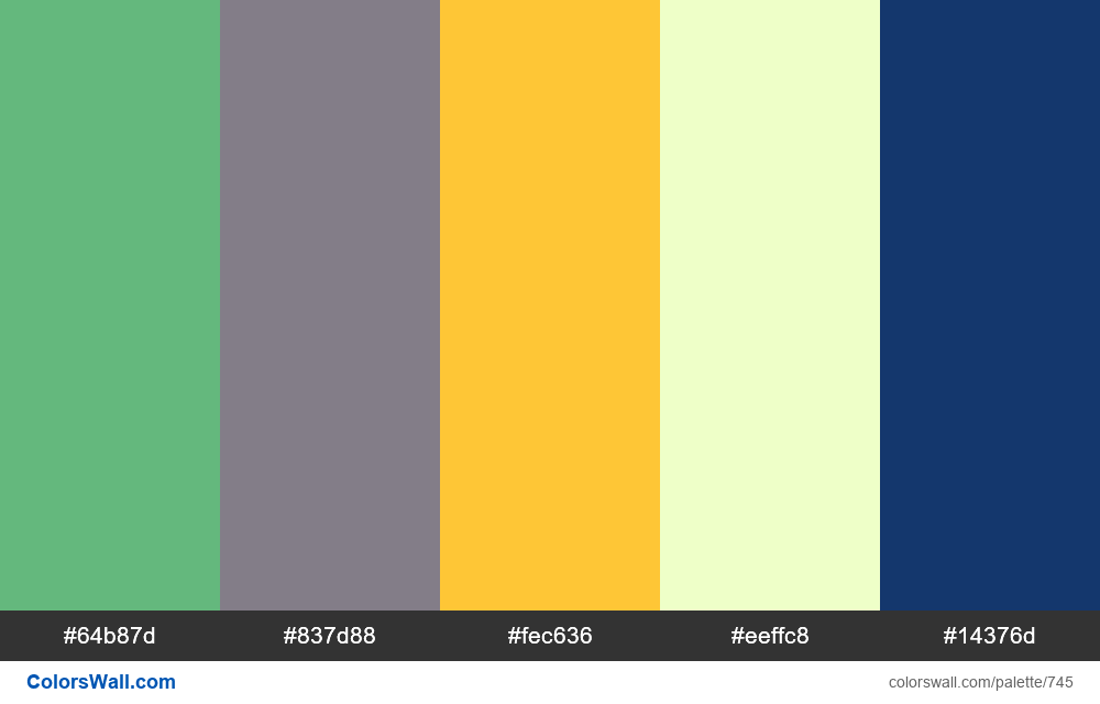 #colorswall random #278 colors palette - #745