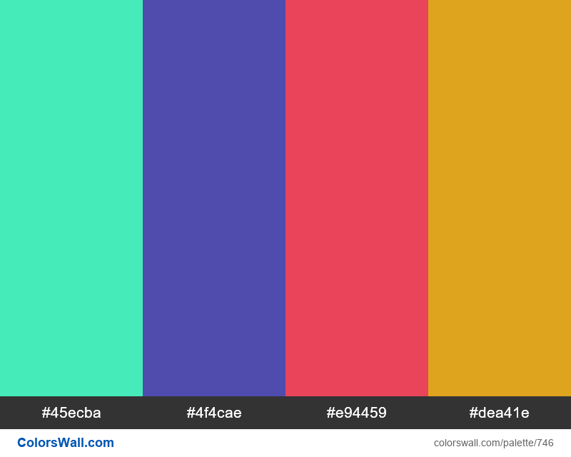 #colorswall random #279 colors palette - #746