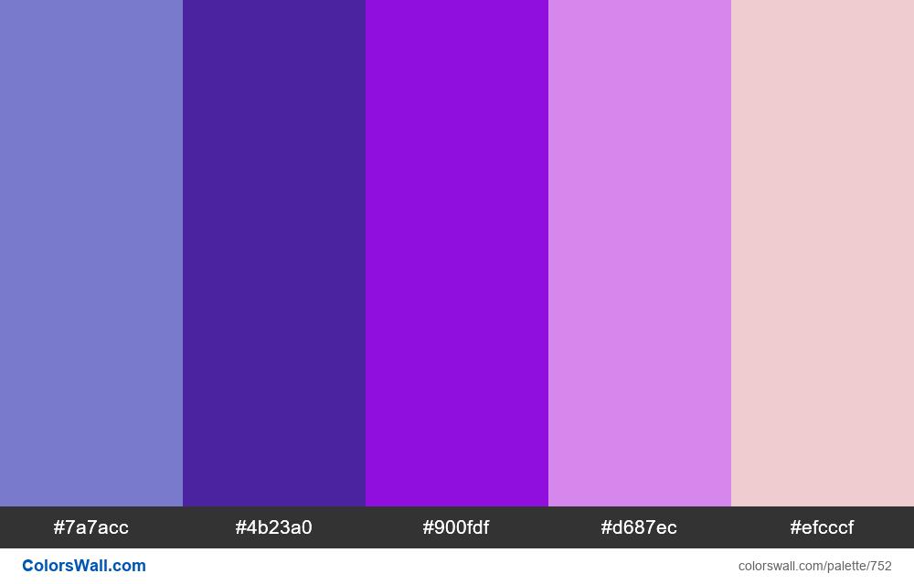 #colorswall random #285 colors palette - #752