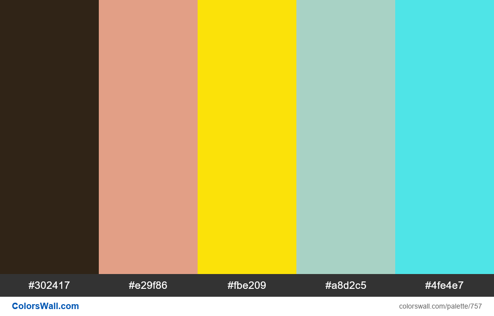 #colorswall random #290 colors palette - #757