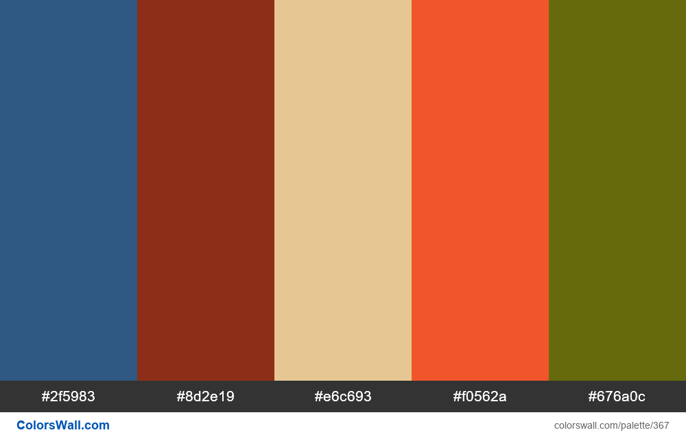 #colorswall random #3 colors palette - #367