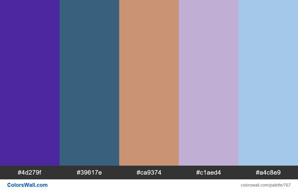 #colorswall random #300 colors palette - #767